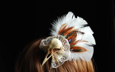 Bird skull fascinator experiment 2 side view