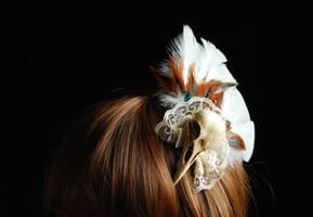 Bird skull fascinator experiment 2 front view