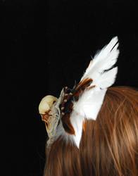 Bird skull fascinator experiment 2 back view