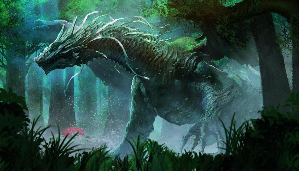 forest dragon by kakotomirai