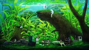 aquarium room
