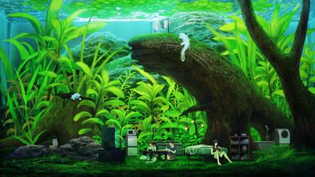 aquarium room by kakotomirai