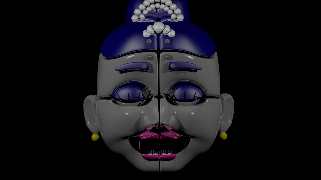 Pictures Of Ballora Cute: Ballora Head! (Blender) By CutePlushFoxy On DeviantArt