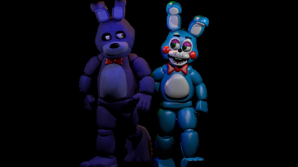 Bonnie and toy bonnie blender by cuteplushfoxy on deviantart
