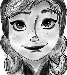 Anna Sketch by sailorjessi