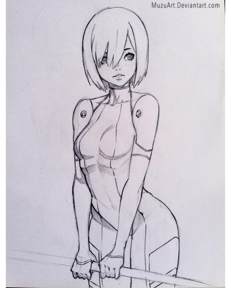 OC Sketch by MuzuArt