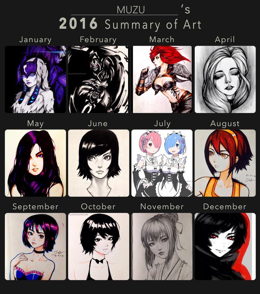 My Summary of art 2016! by MuzuArt