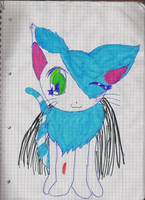 blue Kitty-Cat by ShinyEevee2992