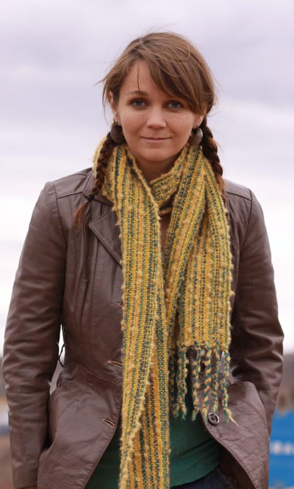 Handwoven 'mellowed yellow' by julieweaverwoman