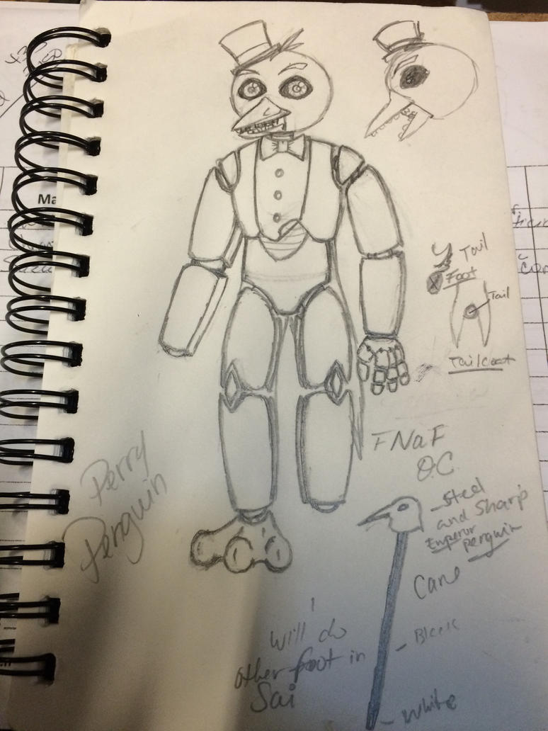 Perry penguin-FNaF oc by Asenath-Nightroad