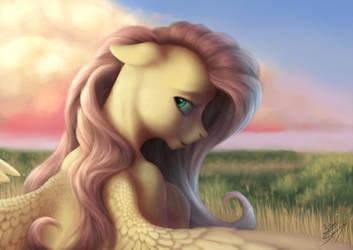 Shy Pony by blueSpaceling