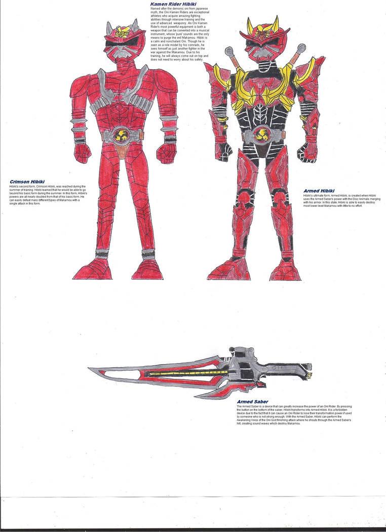 Kamen Rider Crimson And Armed Hibiki By Zackon7 On Deviantart