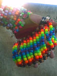 kandi: rainbow bridge cuff