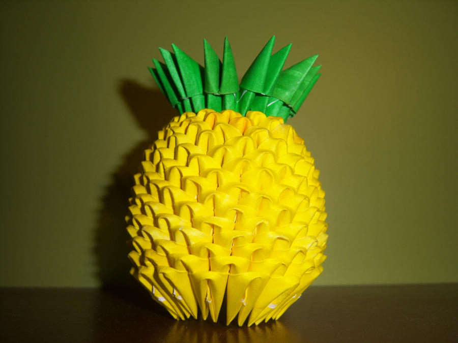3d Origami Pineapple By Shelbysarrazin On Deviantart