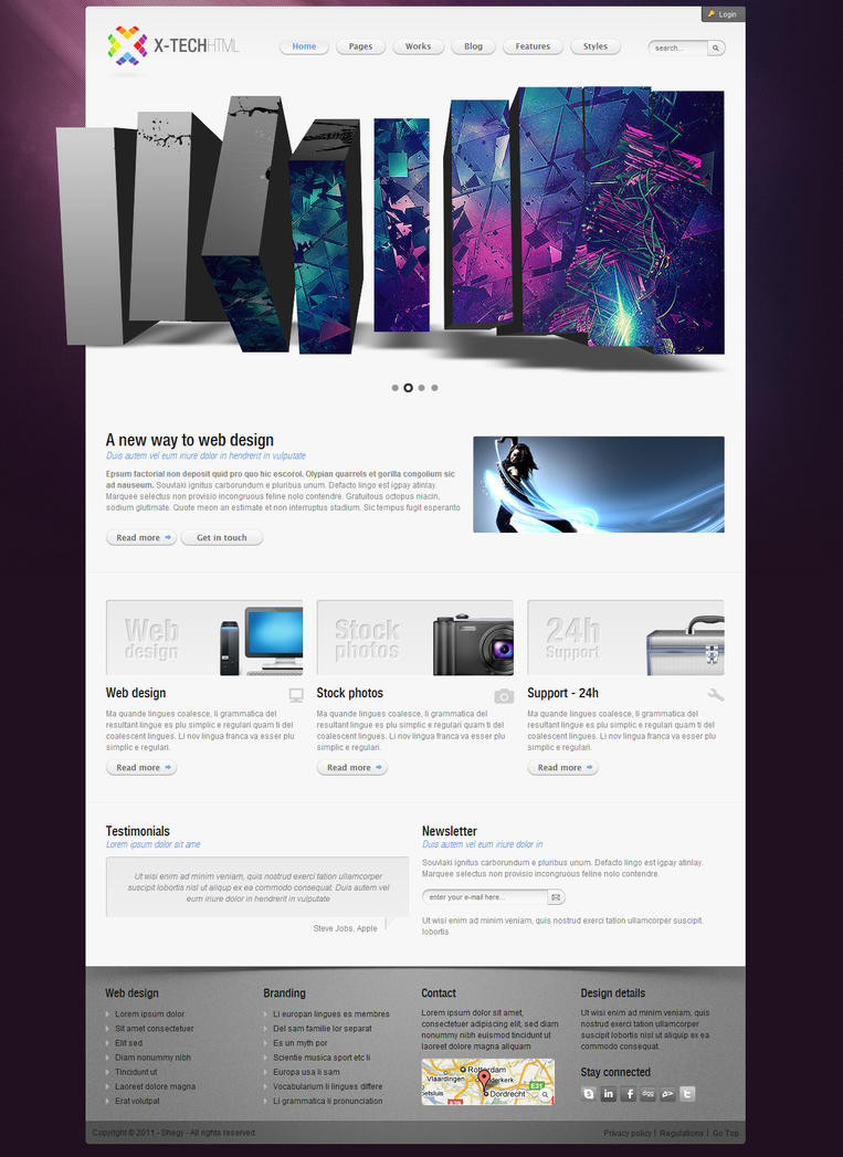 x tech html template by shegystudio d3e9ca0 Web Design Interface Collection of Inspiration