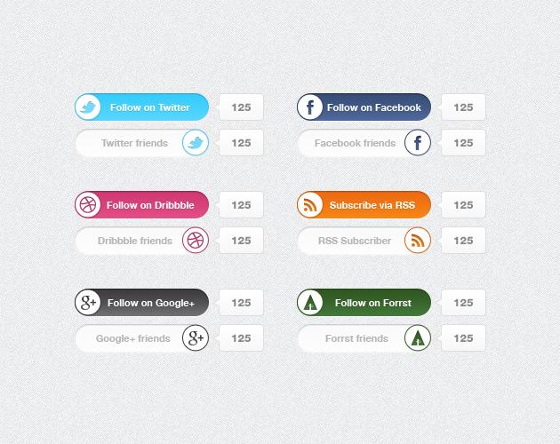 Social media switches - psdchest.com freebie by Shegystudio