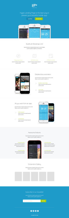 Hype Landing Page PSD FREE