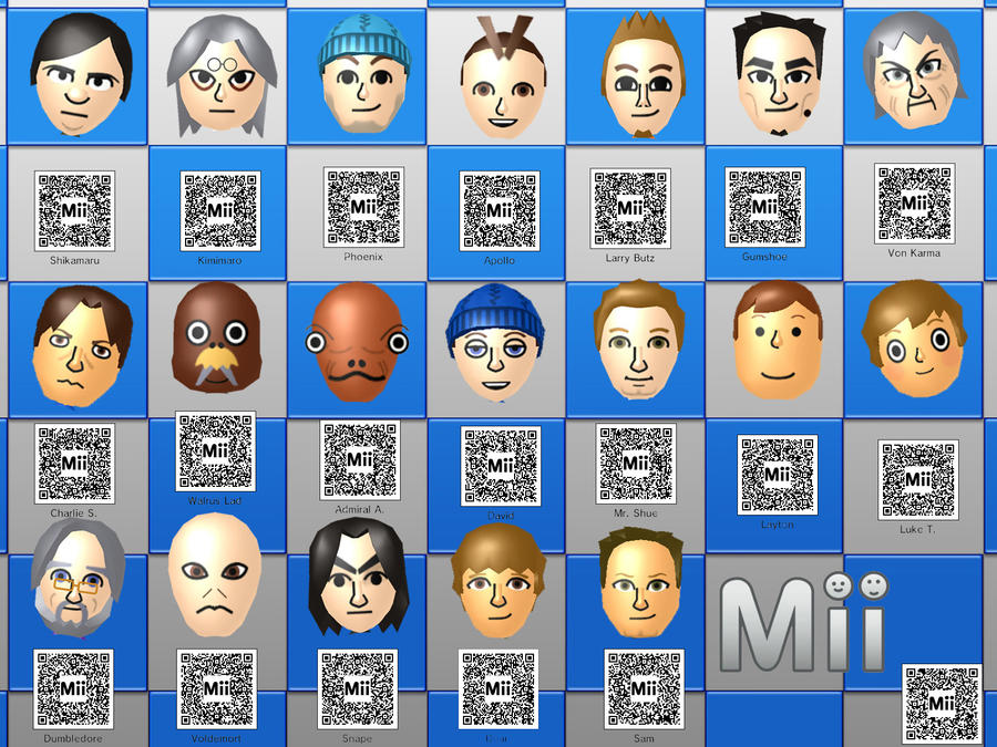 Anime Mii Characters 3ds : Ds miis with qr codes by raccoon ninja on deviantart