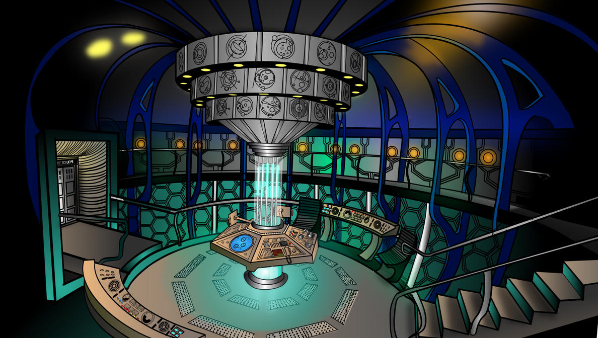 Marvelous Tardis Interior By MilminoDraws ...