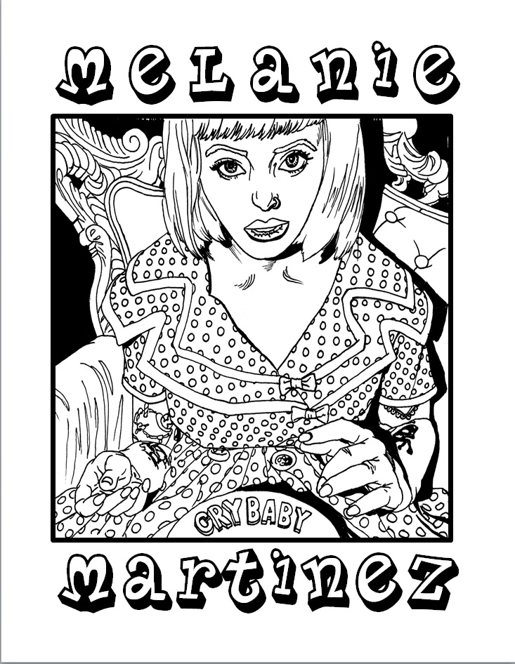 Melanie Martinez Coloring Page by M00SE-Lee on DeviantArt