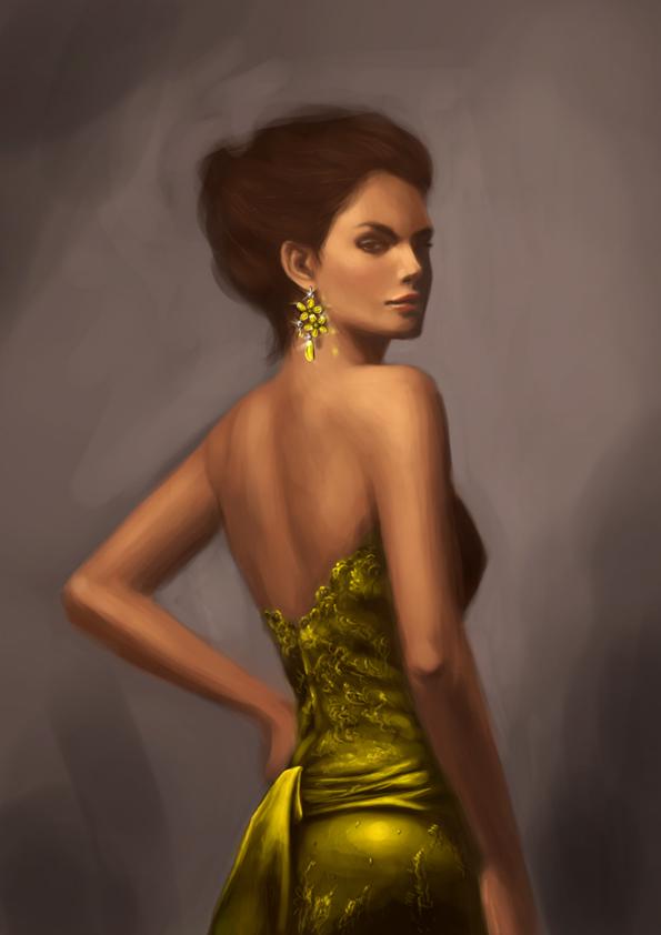 Green Earring by Arsinoes