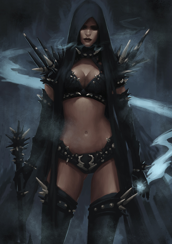 Dark Elf Mage - Concept by Arsinoes