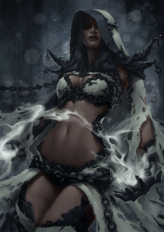 Dark Elf Mage - Concept 2 by Arsinoes