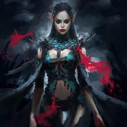Dark Elf Witch by Arsinoes