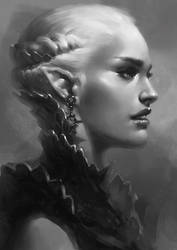 Armored Elf Bust by Arsinoes