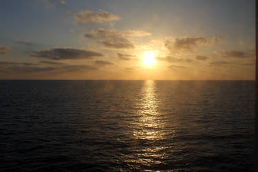 sun on sea by rok993