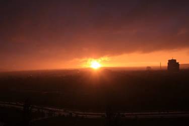 sunset in Prague by rok993