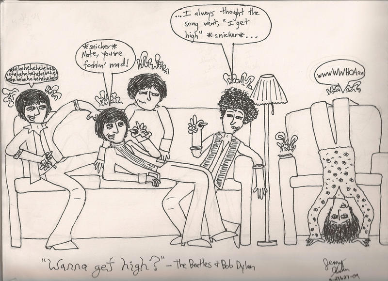 The Beatles And Bob Dylan By Beatlefan4ever