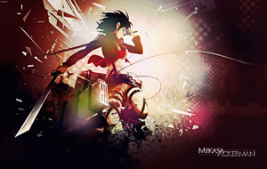 Wallpaper Mikasa Ackerman Attack on Titan by Nagamii-Chan