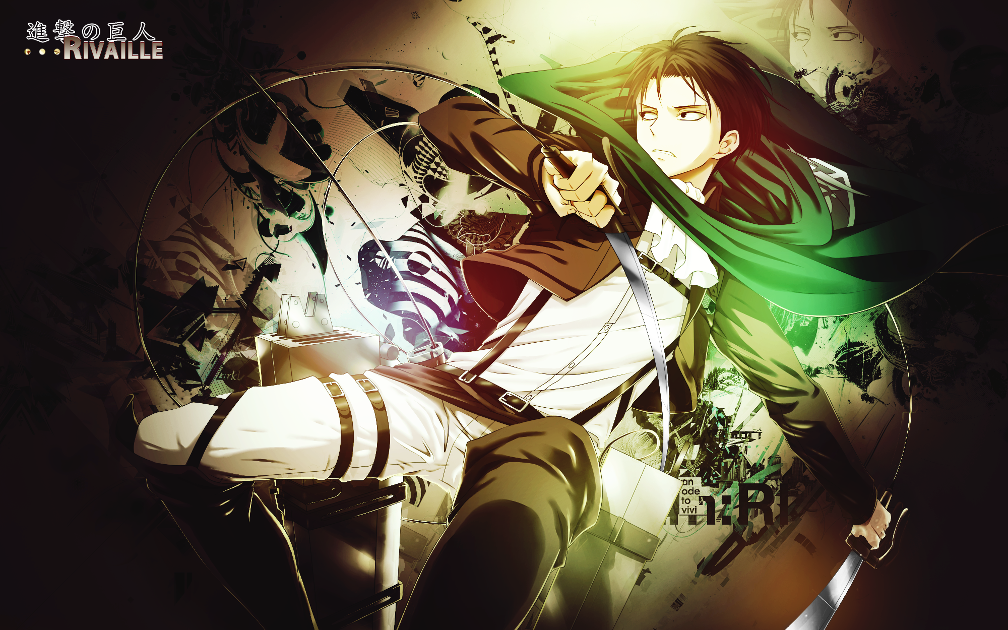 Wallpaper Shingeki No Kyojin Rivaille/Levi by Nagamii-Chan