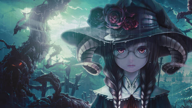 Wallpaper another witch anime girl