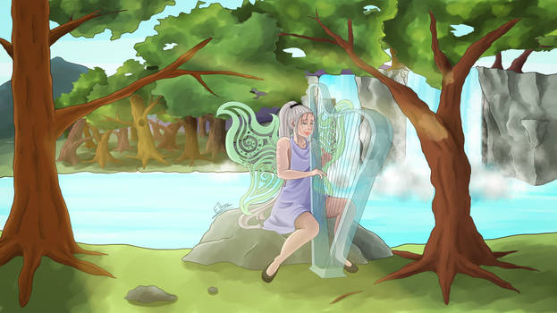 Erynn the harpist