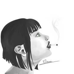 Smoke portrait WIP