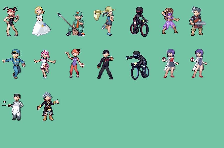 Custom Pokemon Trainer Sprites by ThatRandomSpriter on