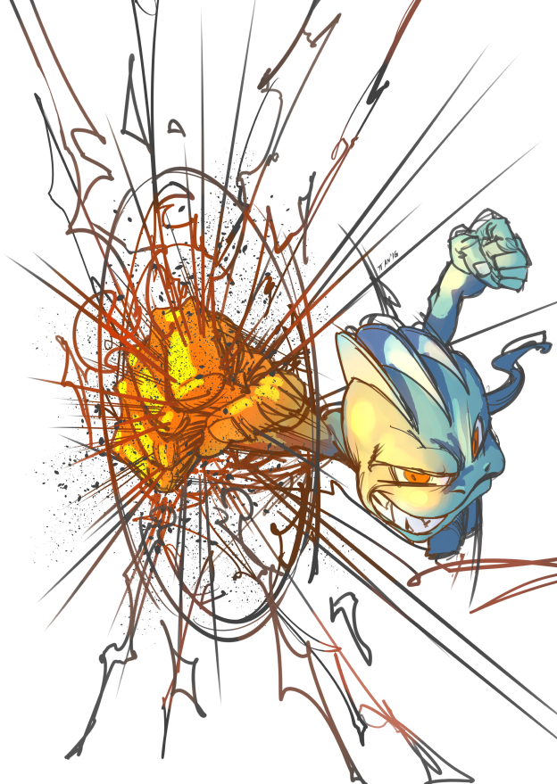 Machop used Dynamic Punch by weaselpa