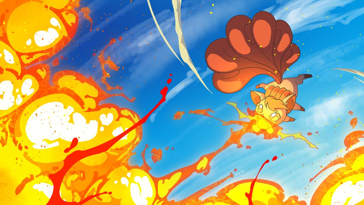 Vulpix used Flamethrower... again by weaselpa