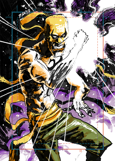 Sketch Card Iron Fist by weaselpa