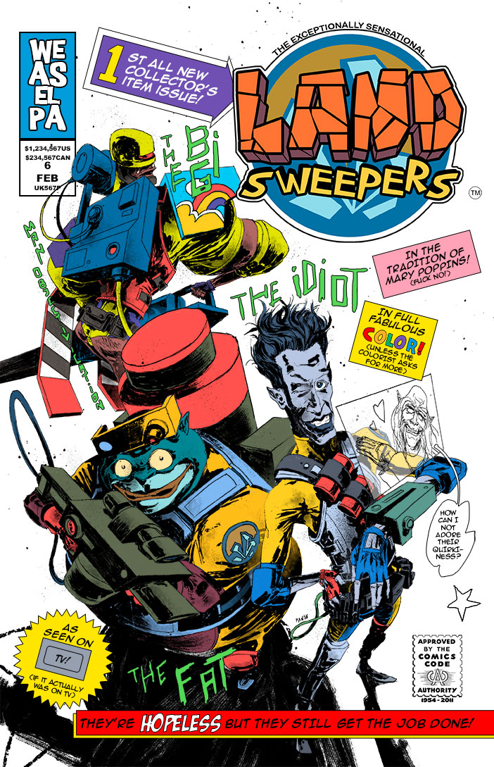 Land Sweepers cover page by Panagiotis Vlamis by weaselpa