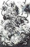 Heroes vs Vilains ink by Panagiotis Vlamis