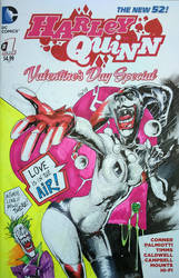 Harley Valentine Special sketch cover by Vlamis P by weaselpa