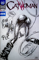Catwoman sketch cover by Panagiotis Vlamis by weaselpa