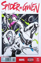 Spider Gwen sketch cover Panagiotis Vlamis