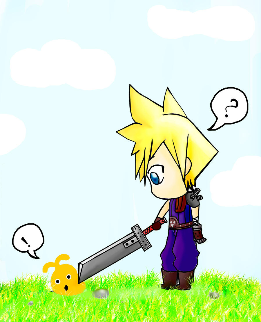 Cloud VS LocoRoco by Dima-Chan