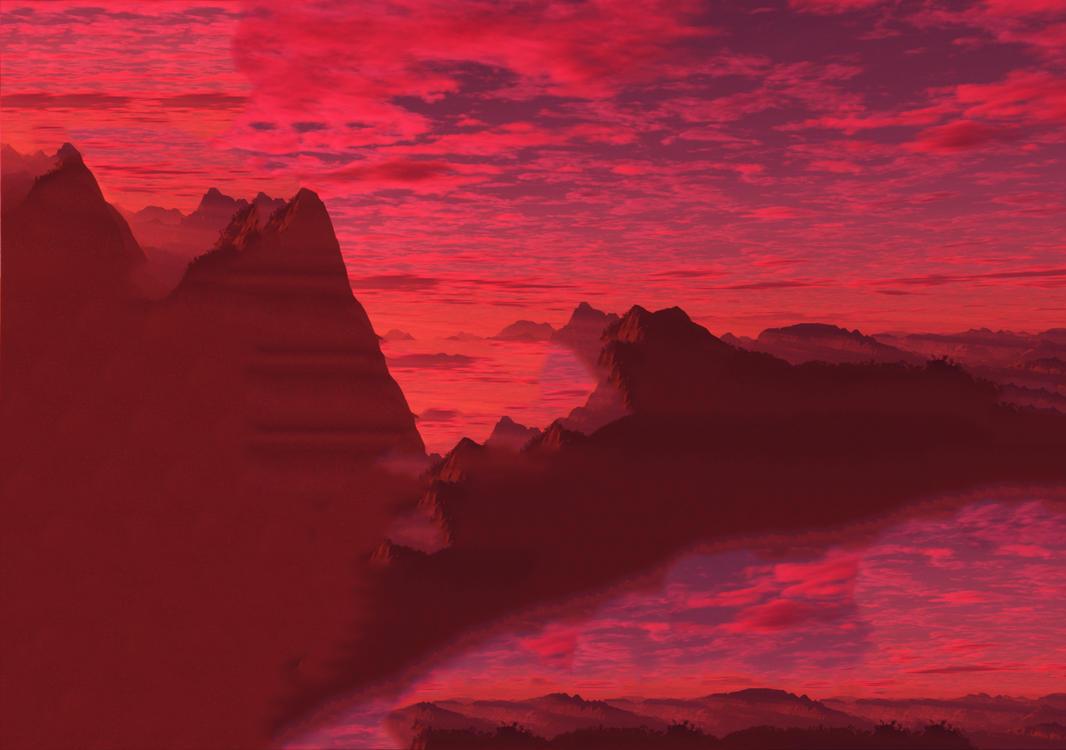 Pink Set Sun by Cyurus
