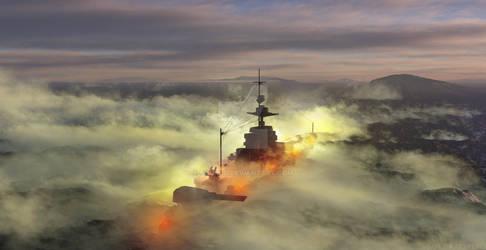 Glowing Tides (German Battleship)