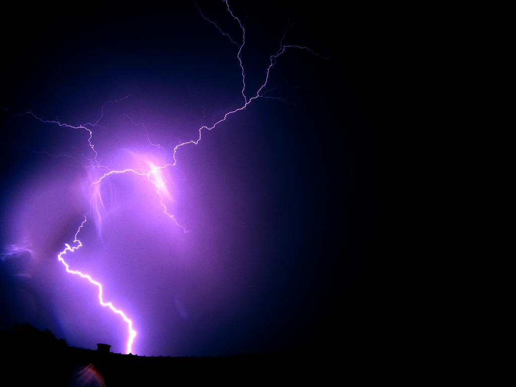 Lightning with GoPro #1 by PsychoFisch